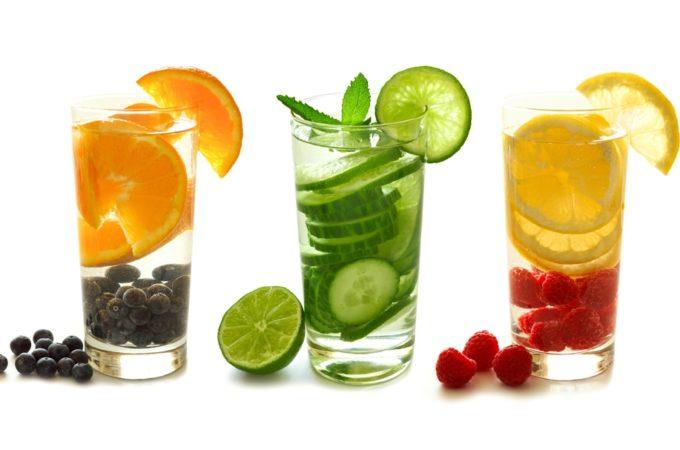8x Water met Fruit (voor zomerse dagen)