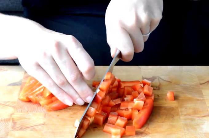 Filmpje: Paprika snijden