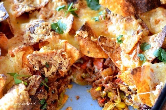 recept nachos met gehakt uit de oven © bettys kitchen - 7x nacho recepten