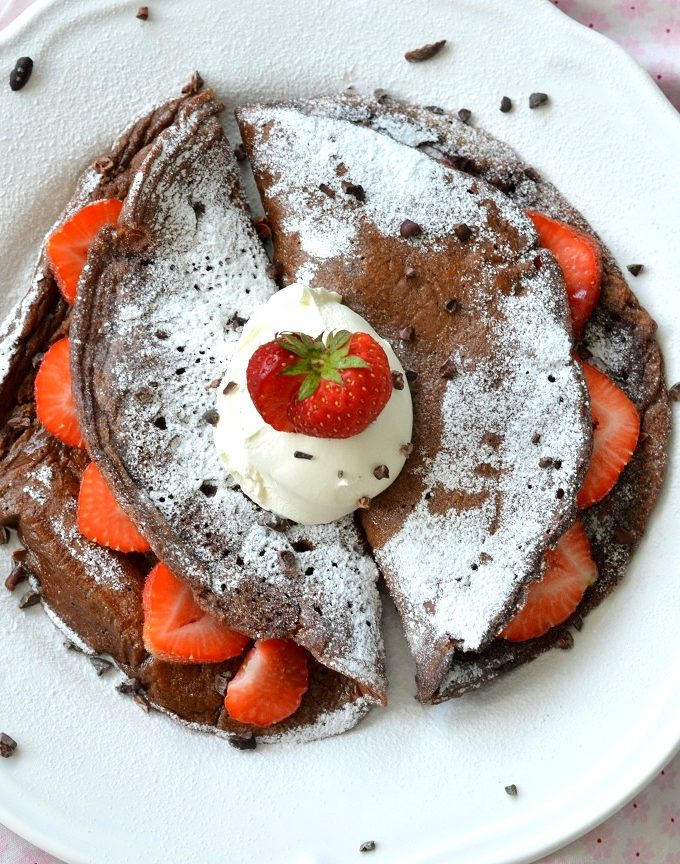 recept gezonde chocolade pannenkoek © bettyskitchen.nl
