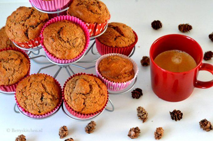 Bananabread spelt muffins (suikervrij)