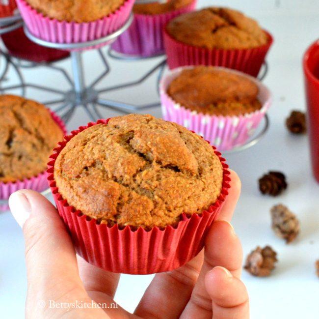 Bananabread spelt muffins suikervrij
