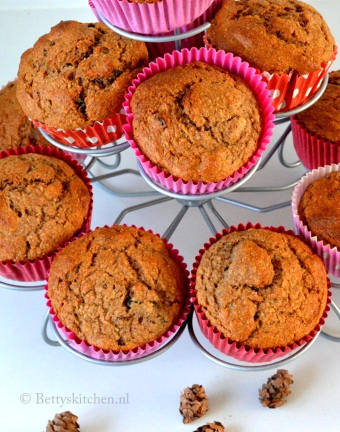 recept bananabread spelt muffins