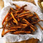 recept zoet aardappel friet uit de oven