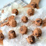 gezonde chocolade truffels met cranberry