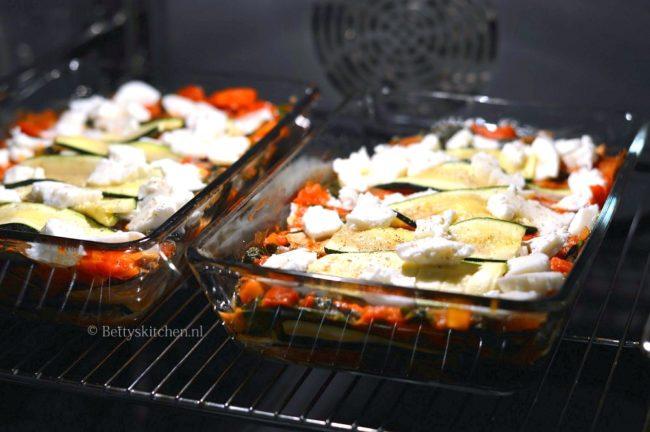 groente lasagna met courgette en aubergine