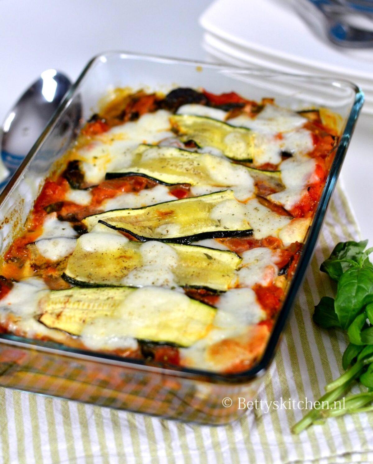 aubergine lasagne recept