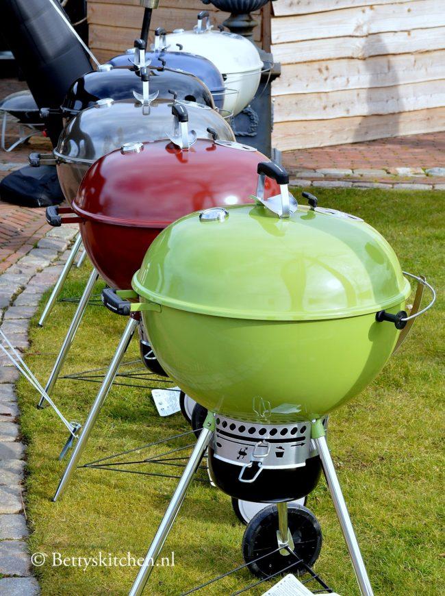 Wafels bereiden op de BBQ weber grill