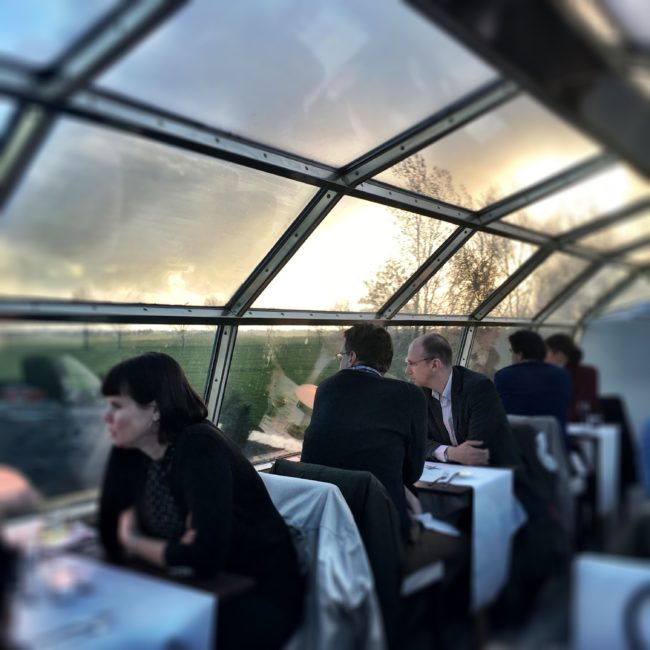 Panorama Rail Restaurant in Amsterdam