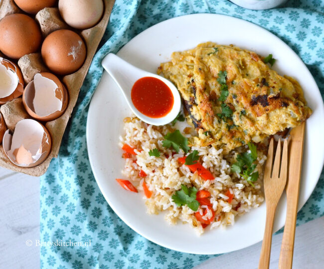 recept thaise omelet met rijst © bettyskitchen.nl