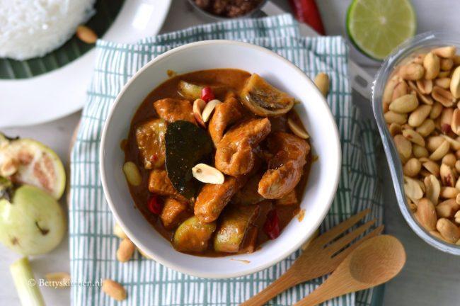 Thaise Panang curry met varkensvlees