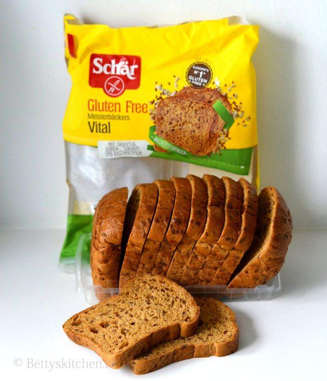 club sandwich met kip met glutenvrij brood van Schär