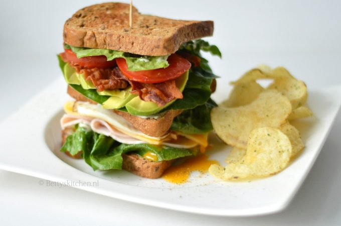 Club sandwich met kip (glutenvrij)