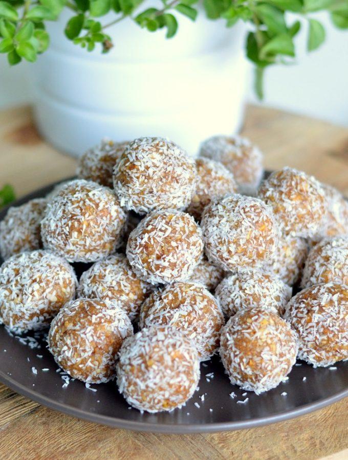 gezonde mango kokos balletjes suikervrij glutenvrij snack tussendoortje