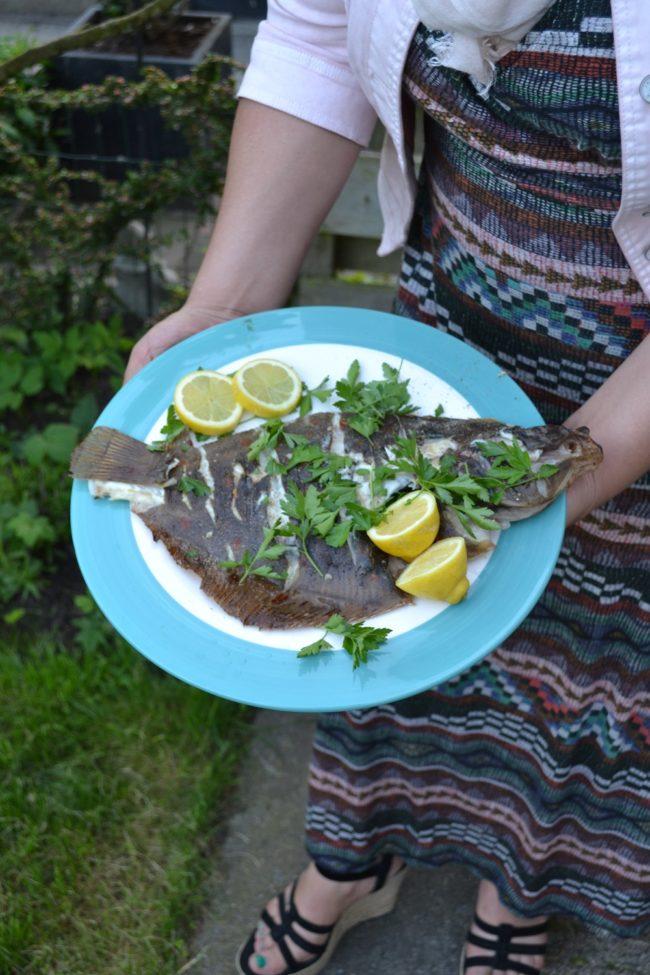 Hele scholvan de barbecue - eet vis met het MSC keurmerk voor duurzame visserij
