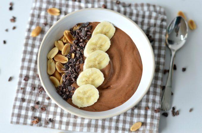 Smoothie Bowl met chocolade en pindakaas