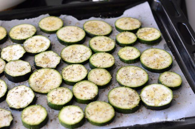 Courgette grillen in de oven