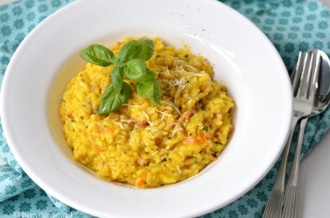 risotto met safraan en spekjes