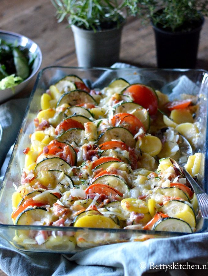 Aardappelschotel met kaas + Emmi Kaltbach Blogevent