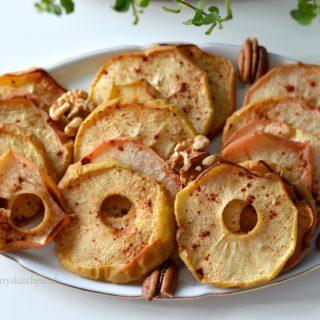 Gedroogde appeltjes uit de oven