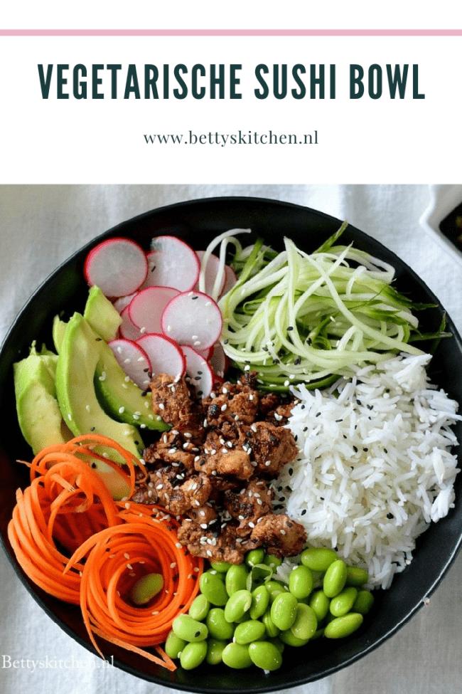 recept vegetarische sushi bowl met tofu