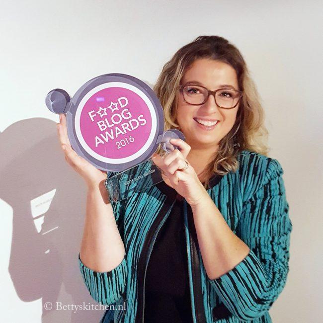 Winnaar Food Blog Awards 2016 Bettyskitchen