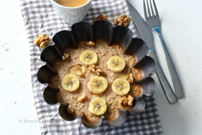 Havermouttaartje met banaan uit de oven