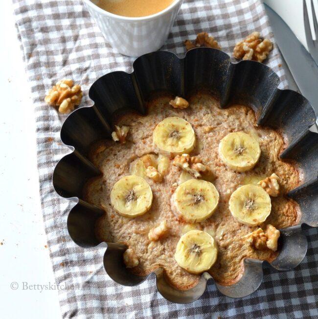 recept havermouttaartje met banaan uit de oven © bettyskitchen.nl