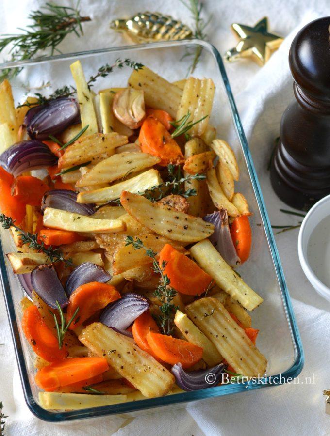 Wintergroenten uit de oven met Salt 'n Pepper Fries LambWeston