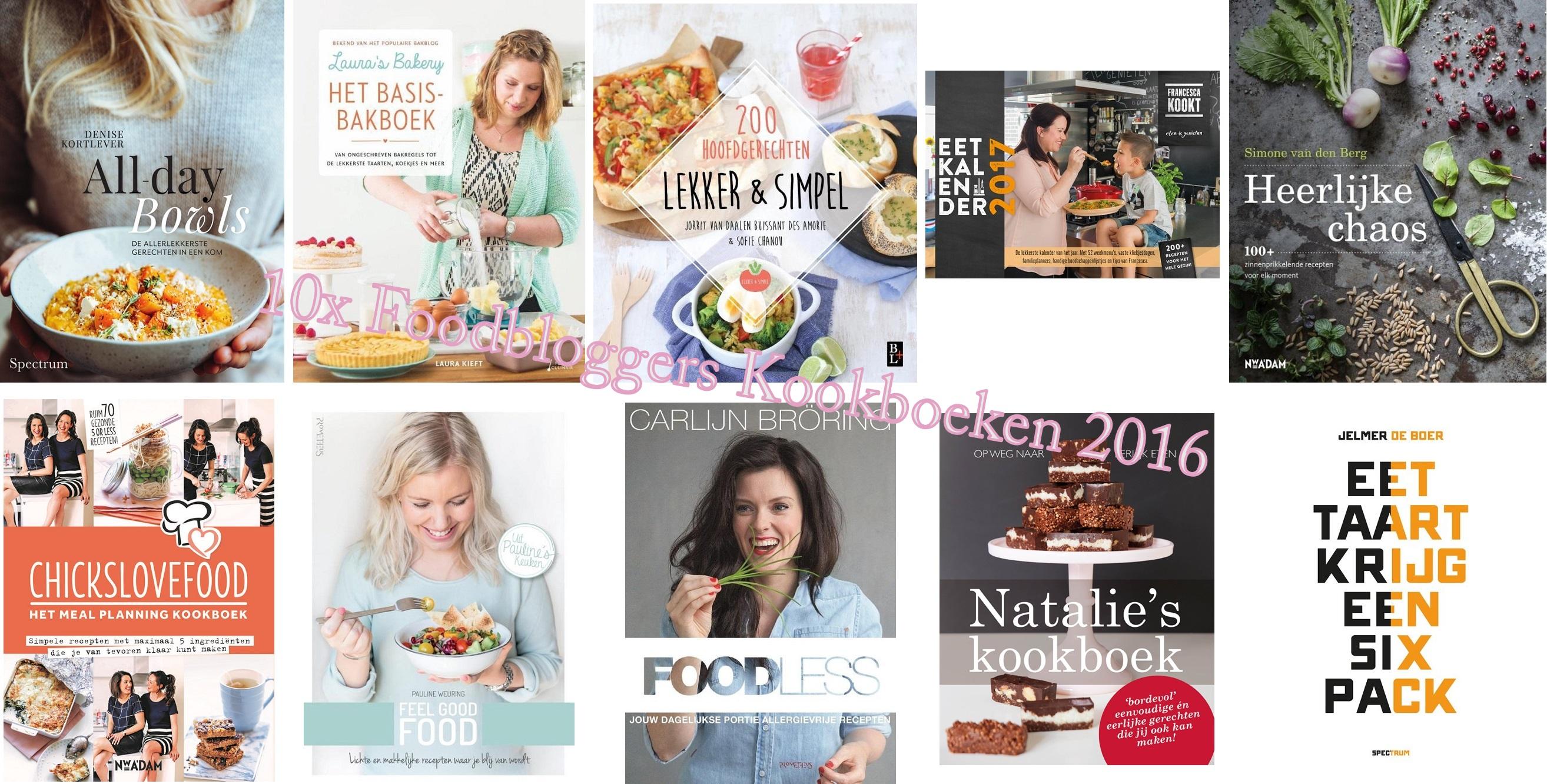 10x Foodbloggers Kookboeken 2016: