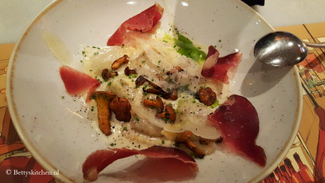 Reisblog: Lekker eten in Barcelona Zoete aardappel-kastanje ravioli bij Elsa y Fred