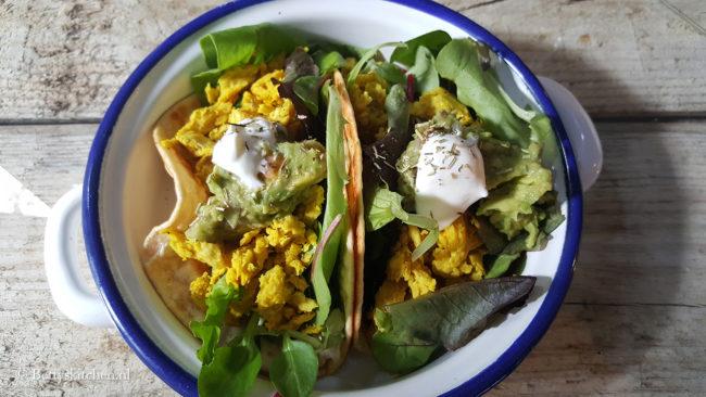 Reisblog: Lekker eten in Barcelona Vegetarische taco's (combo) bij HideOut Bar
