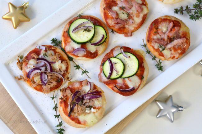 mini pizza's maken met glutenvrij pizzadeeg Soezie