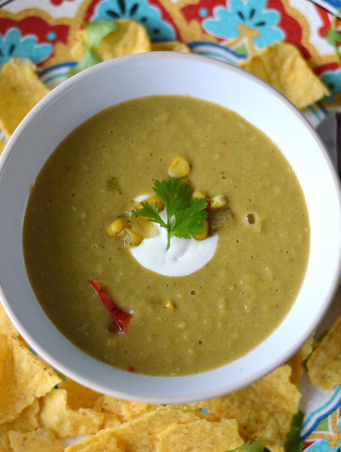 mexicaanse maissoep vegetarisch met nacho's recept
