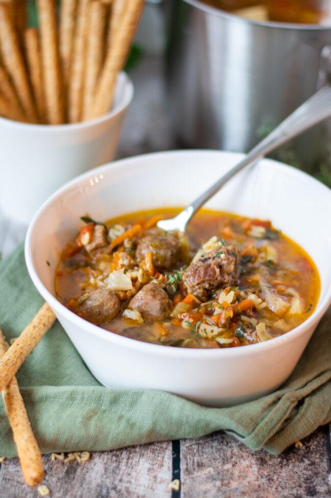recept groentesoep met balletjes © bettyskitchen.nl