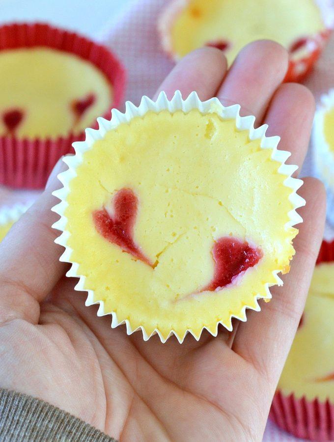 mini cheesecakes met frambozen hartjes valentijnsdag recepten