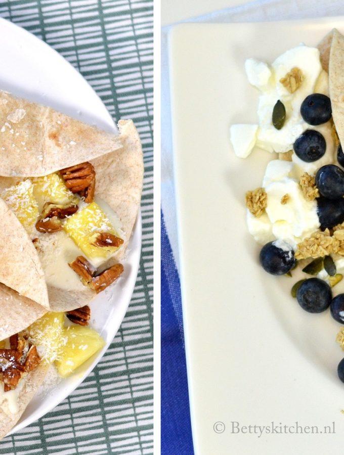 6x wraps met fruit ontbijt recepten