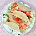 6x wraps met fruit ontbijt recepten - wrap met aardbeien en munt
