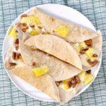 6x wraps met fruit ontbijt recepten - wrap met ananas en kokos