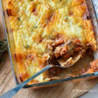 Ovenschotel met gehakt en aardappel (Cottage Pie)