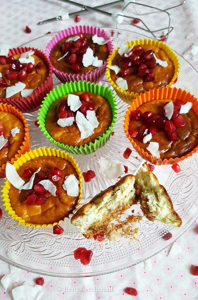Gebakken monchou muffins met kwark