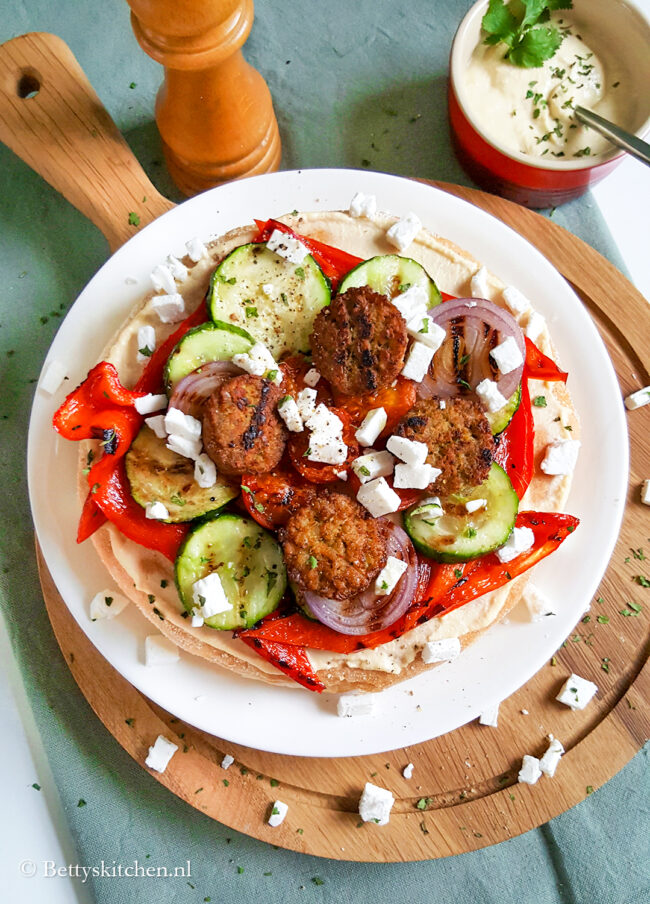 recept pita met falafel en houmous © bettyskitchen.nl