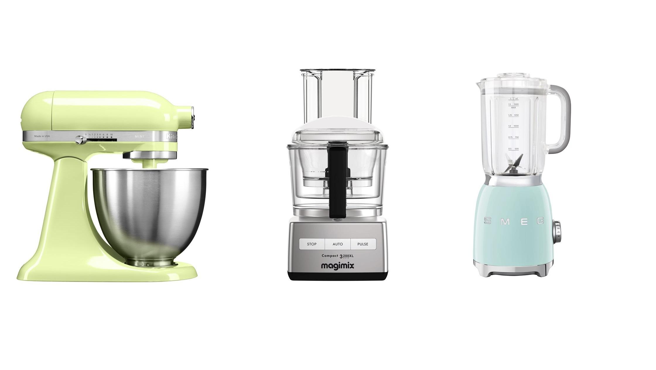 Het verschil tussen mixer, keukenmachine, staafmixer, blender etc.