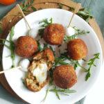 arancini met mozzarella (risotto balletjes)