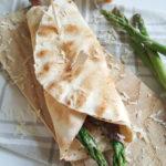 Wraps met groene asperges, Prosciutto en Parmezaan