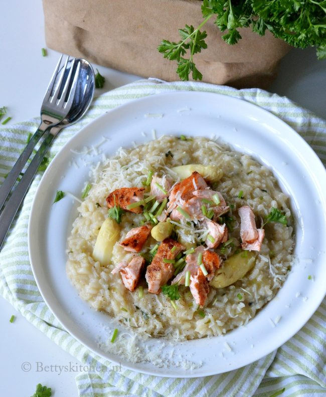 recept risotto met witte asperges en zalm bettys kitchen