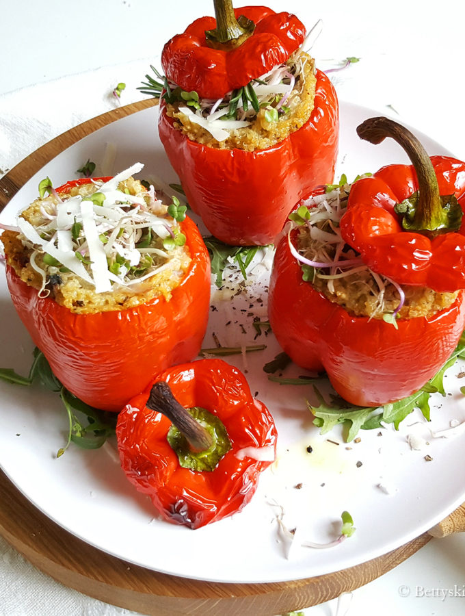 Gevulde paprika met 'Italiaanse' quinoa