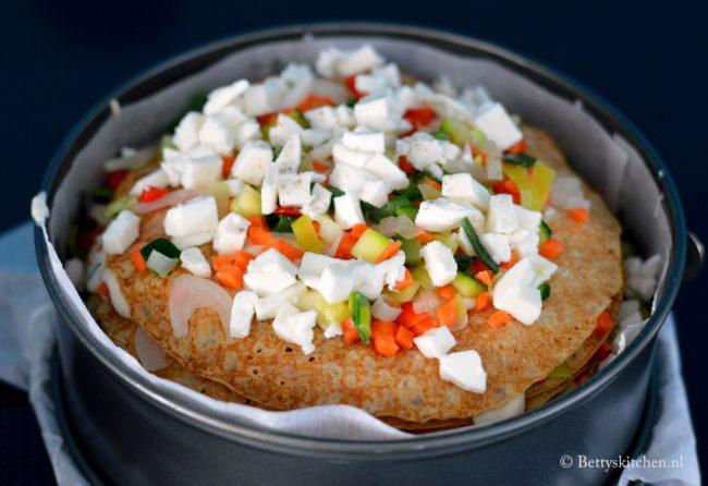 recept Italiaanse Pannenkoekentaart (hartig