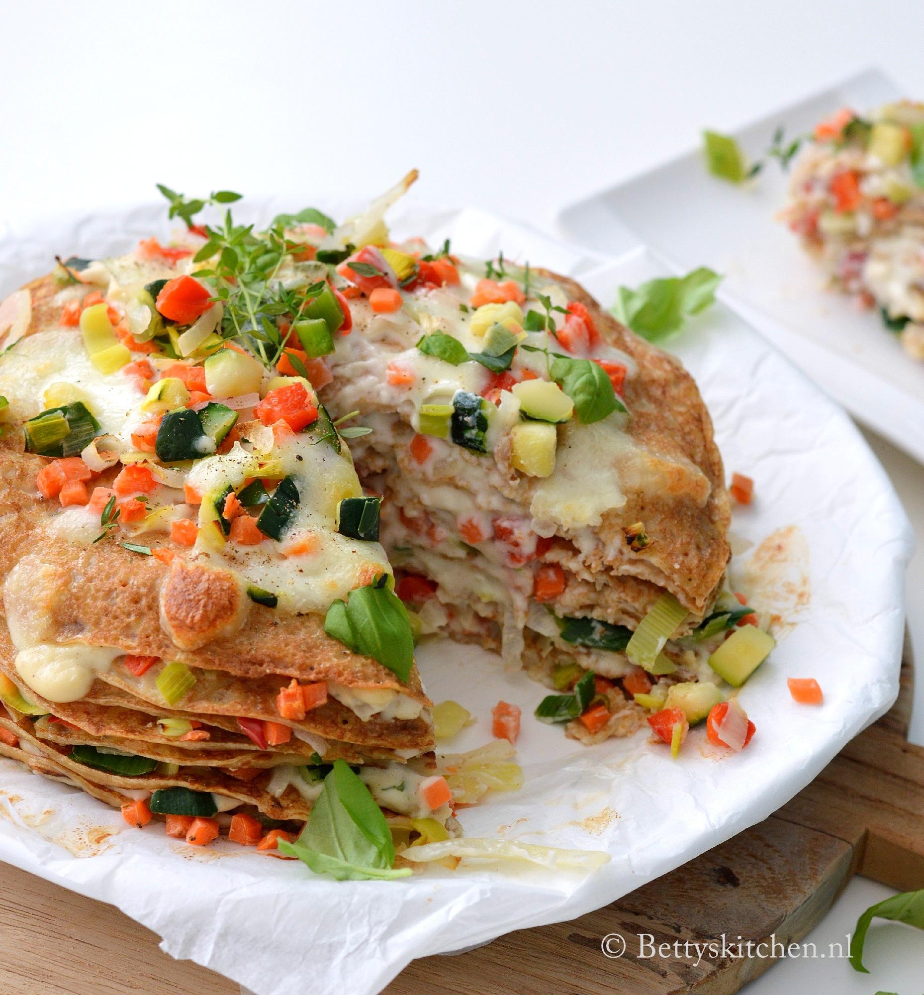italiaanse pannenkoekentaart recept hartige taarten bettyskitchen