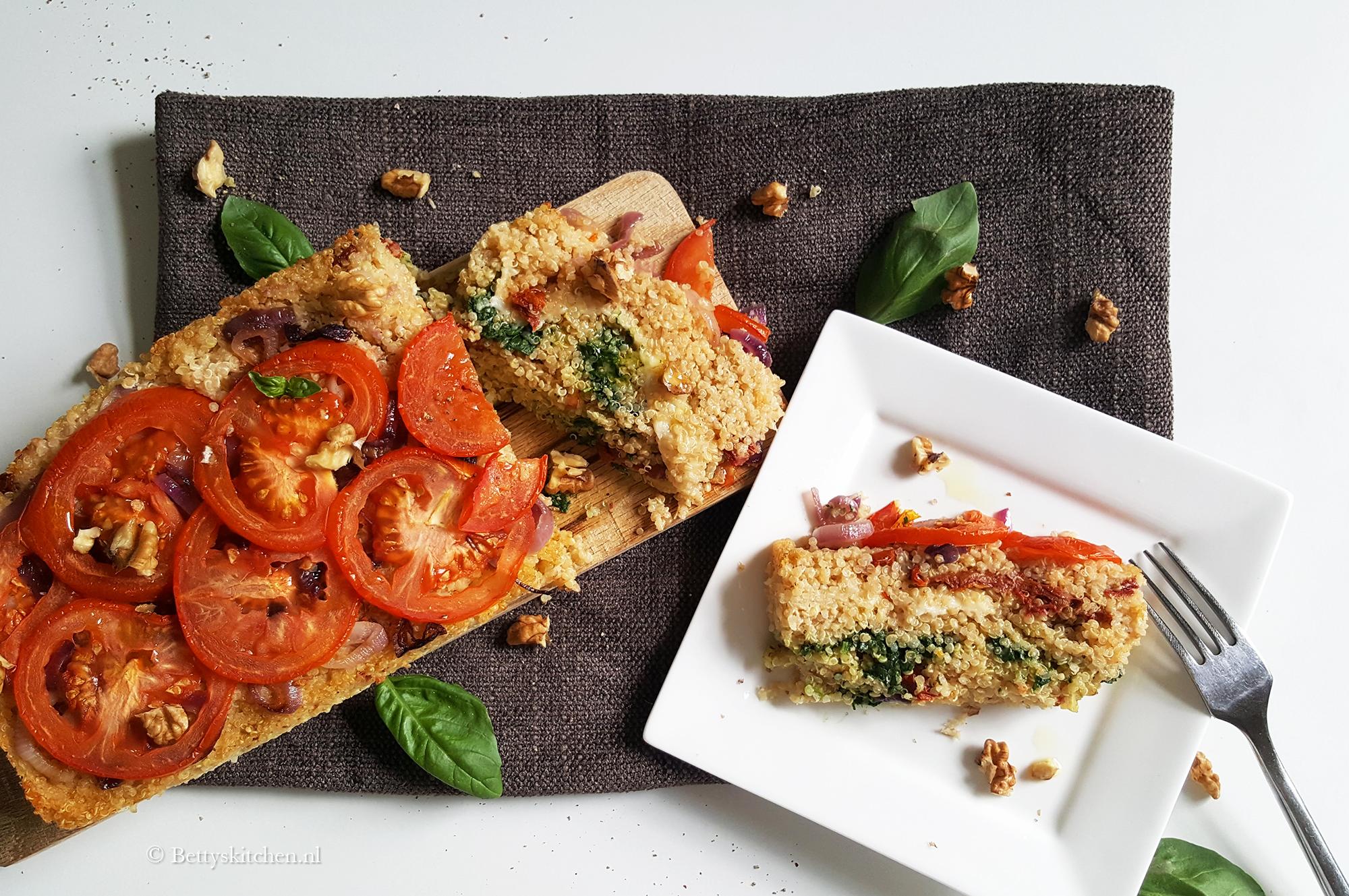 Caprese quinoacake